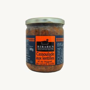 Biraben - Cassoulade aux lentilles et au magret de canard confit – 380 g