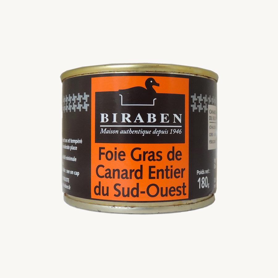 Biraben- foie gras canard entier 180g