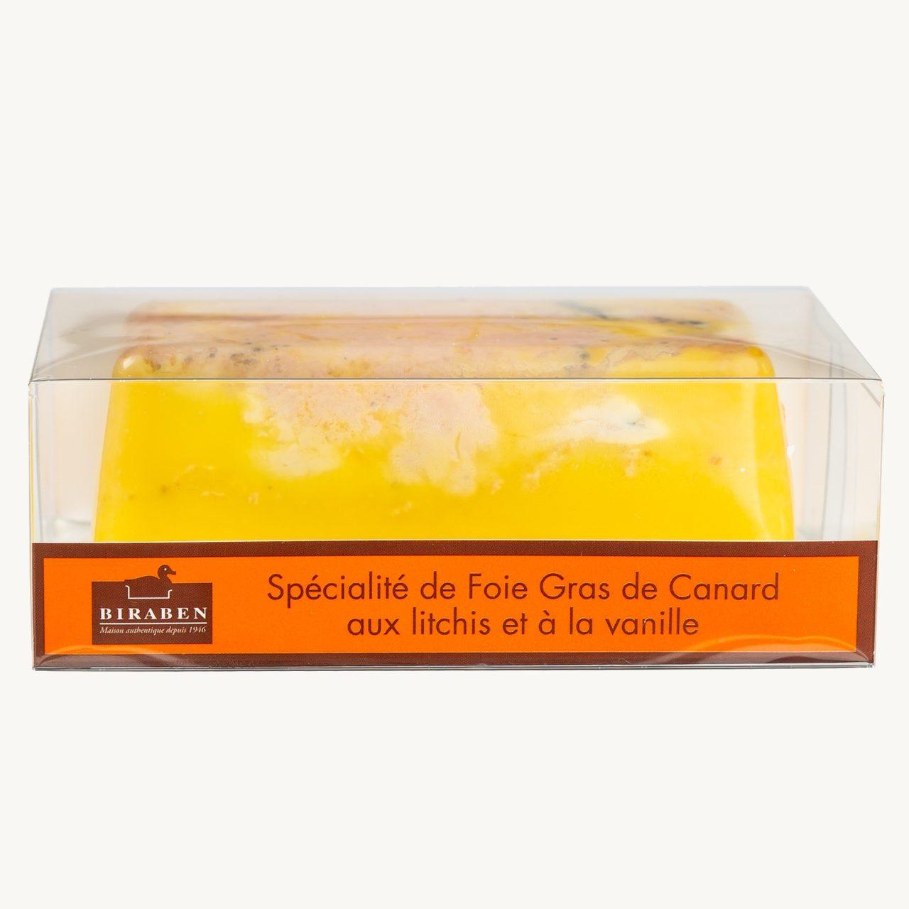 Spécialité de foie gras de canard mi-cuit Litchis vanille