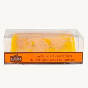 Terrine de foie gras de canard mi cuit au jurancon