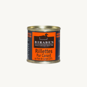 Biraben - Rillettes pur canard au foie de canard - 90 g