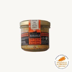 Foie gras de canard entier du sud-ouest, médaille de bronze concours général agricole Paris 2020