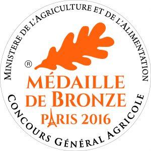 Médaille de Bronze 2016 au Concours général Agricole