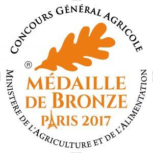 Médaille de Bronze 2017 au Concours général Agricole