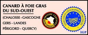 IGP - Canard à foie gras du Sud ouest