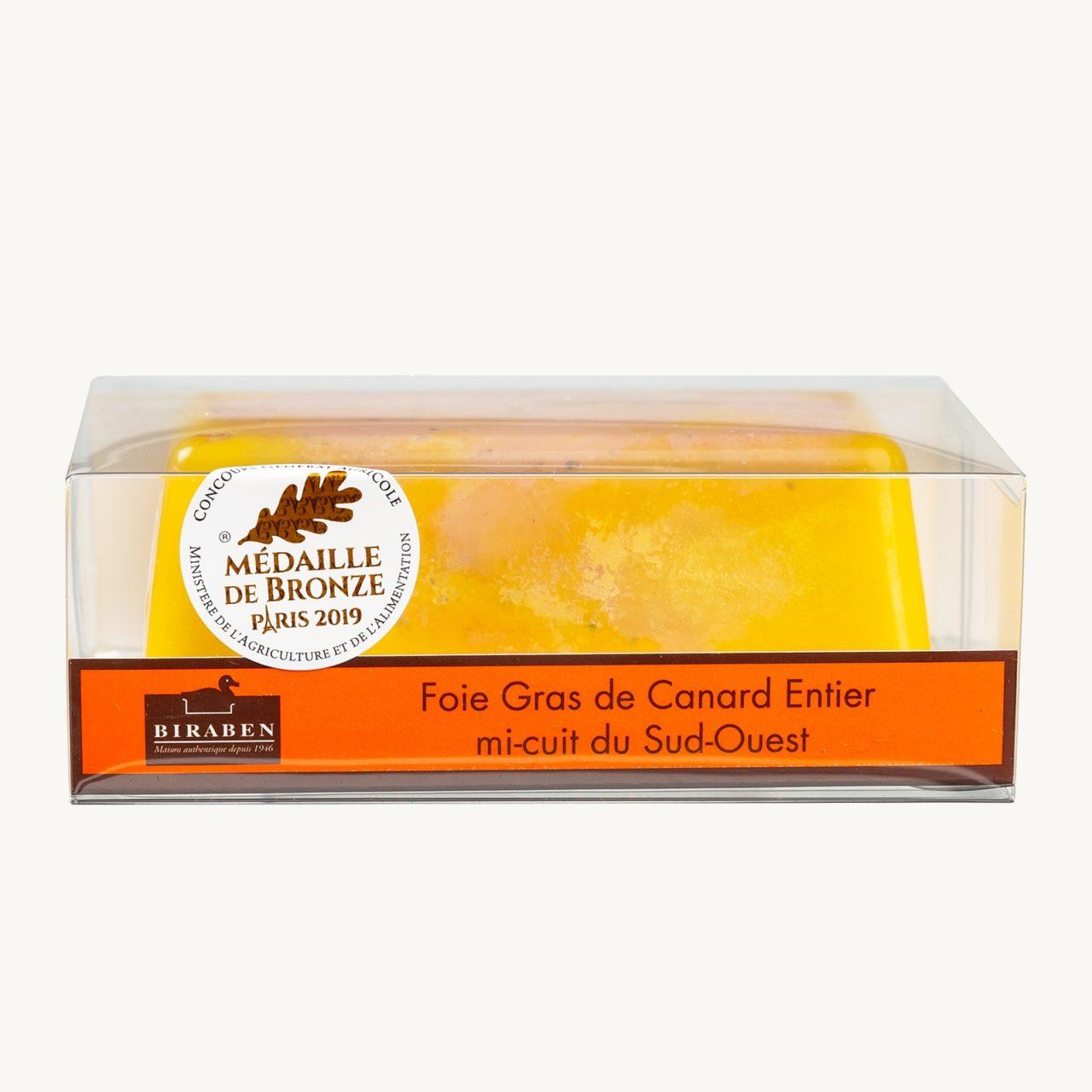 terrine Foie gras de canard entier mi cuit nature