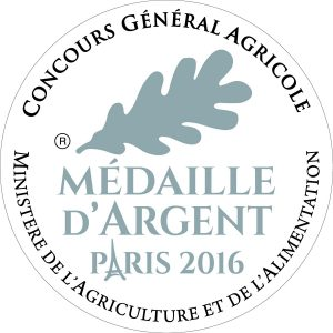 Médaille d'Argent 2016 au Concours général Agricole