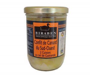 Confit de canard du Sud-Ouest 2 cuisses, bocal 720grs