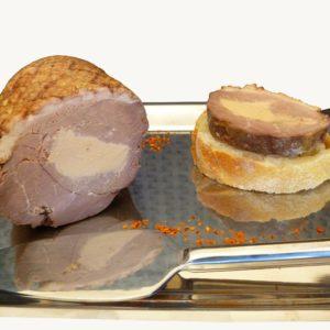 Magret de canard fourre au foie gras