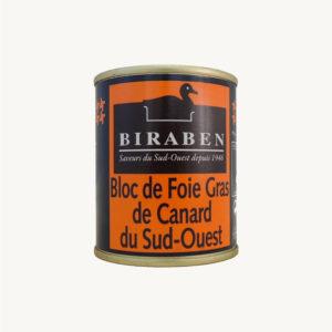 Biraben - Bloc de foie gras de canard IGP Sud-Ouest, rouleau 120g
