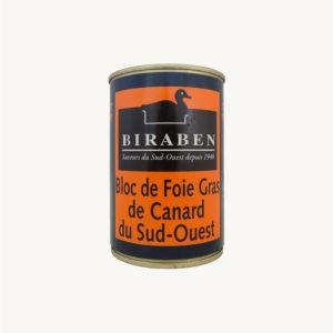 Biraben - Bloc de foie gras de canard IGP Sud-Ouest, rouleau 380g