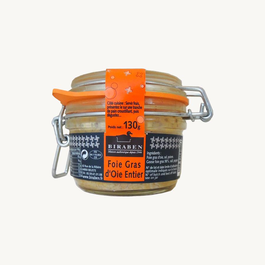 Biraben - foie gras oie entier 130g