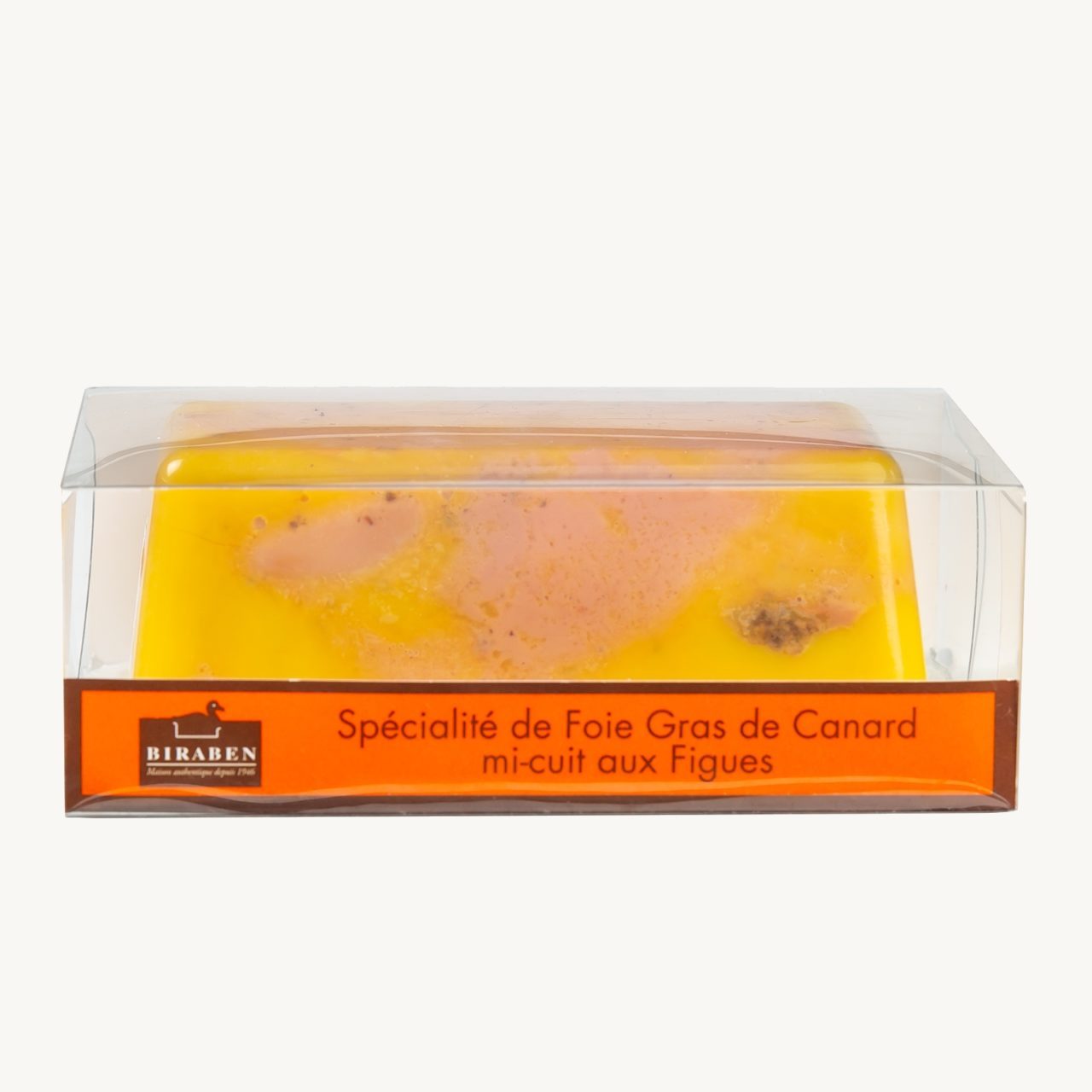 Spécialité de foie gras de canard mi-cuit aux figues
