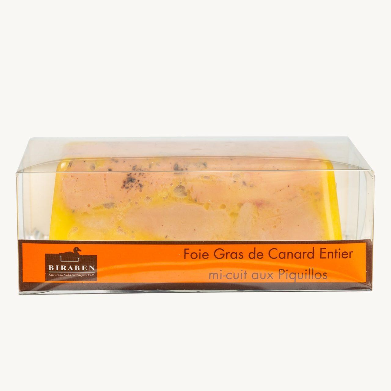 Spécialité de foie gras de canard mi-cuit aux Piquillos