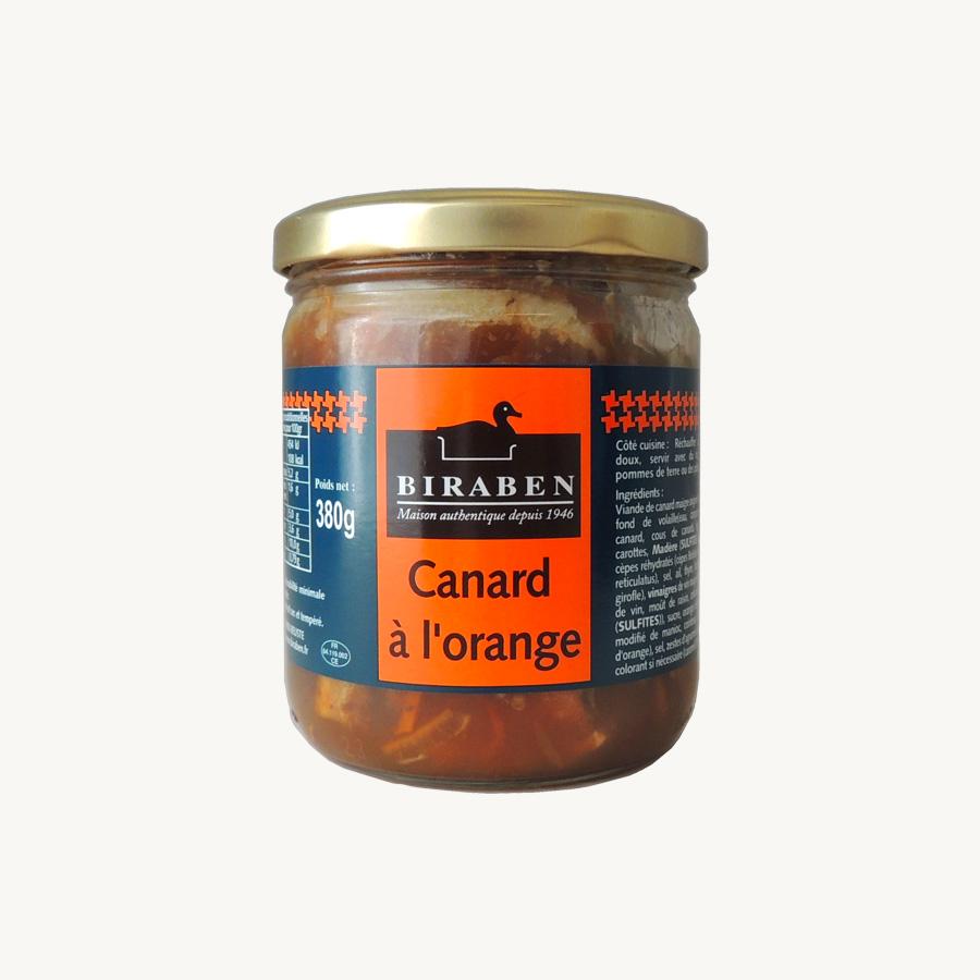 Biraben - Canard à l'orange, bocal 380g