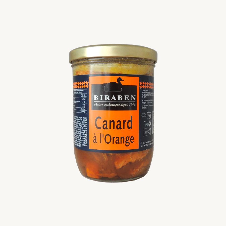Biraben- Canard à l'orange, bocal 720g