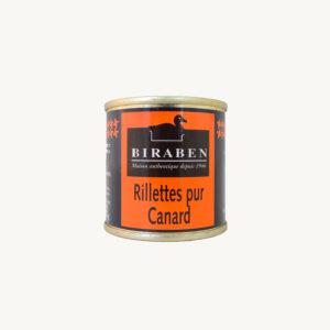 Biraben - Rillettes pur canard - 90 g