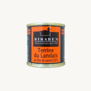 Biraben - Terrine du landais au foie de canard - 90 g