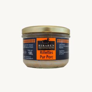 Biraben - Rillettes pur porc - 180 g