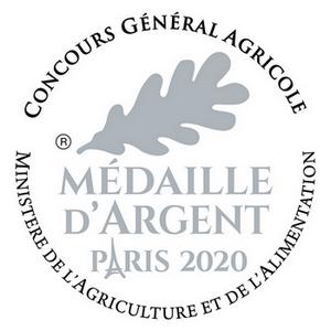 Médaille d'argent concours général agricole 2020